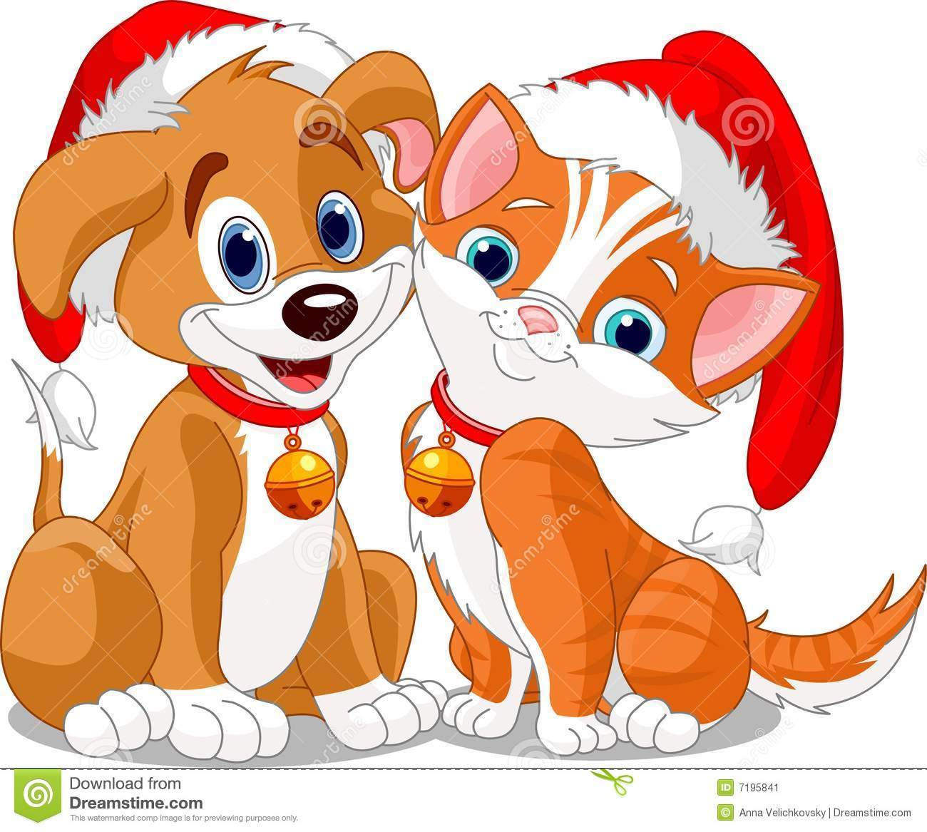clipart of christmas and dogs #14