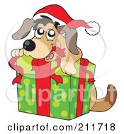 clipart of christmas and dogs #13
