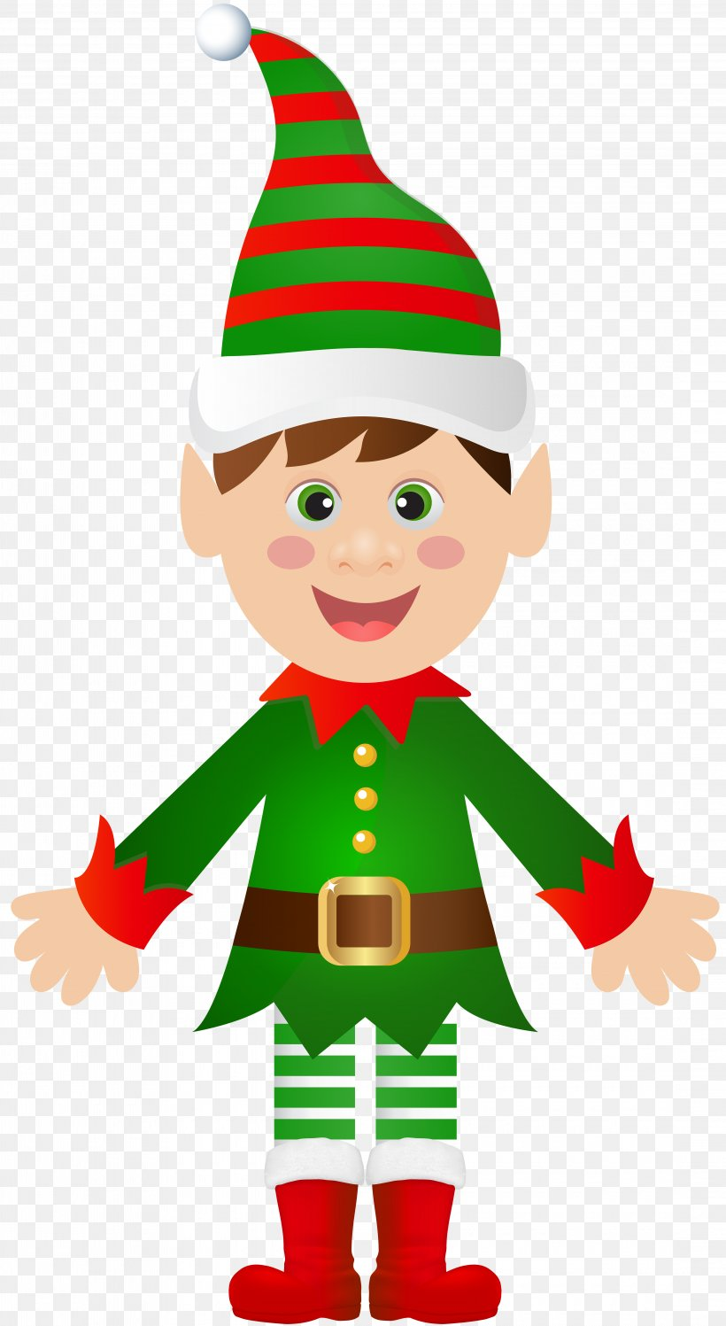 Santa Claus Christmas Tree Christmas Elf Clip Art, PNG.