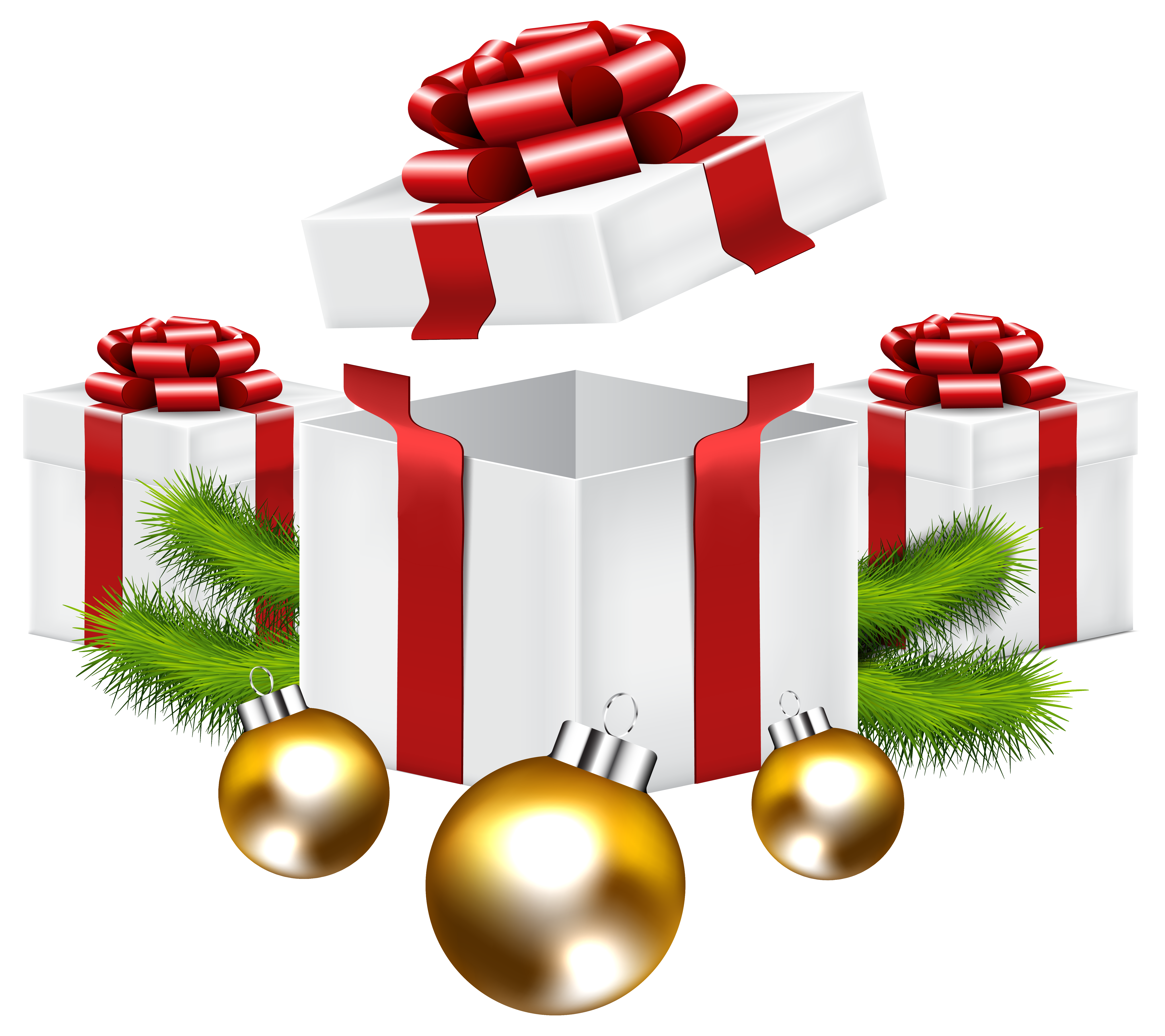 Christmas Gifts PNG Clip Art Image.