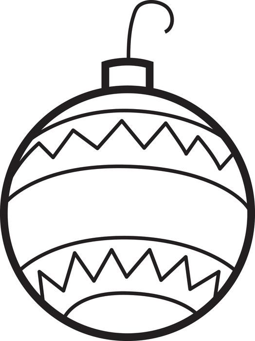 coloring pages christmas baubles clip - photo#22