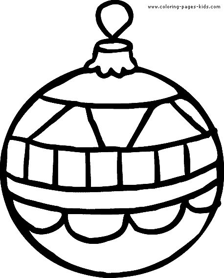 coloring pages christmas baubles clip - photo#11