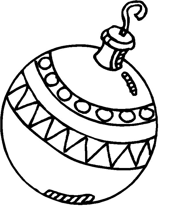 clipart of christmas ornaments to color clipground