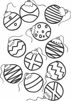 Printable Christmas Ornament Templates.
