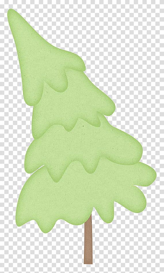 Christmas Stuff, green pine tree illustration transparent background.