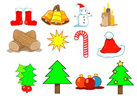 Clipart Of Christmas Symbols.