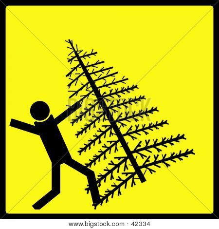 clipart of christmas tree falling over #20