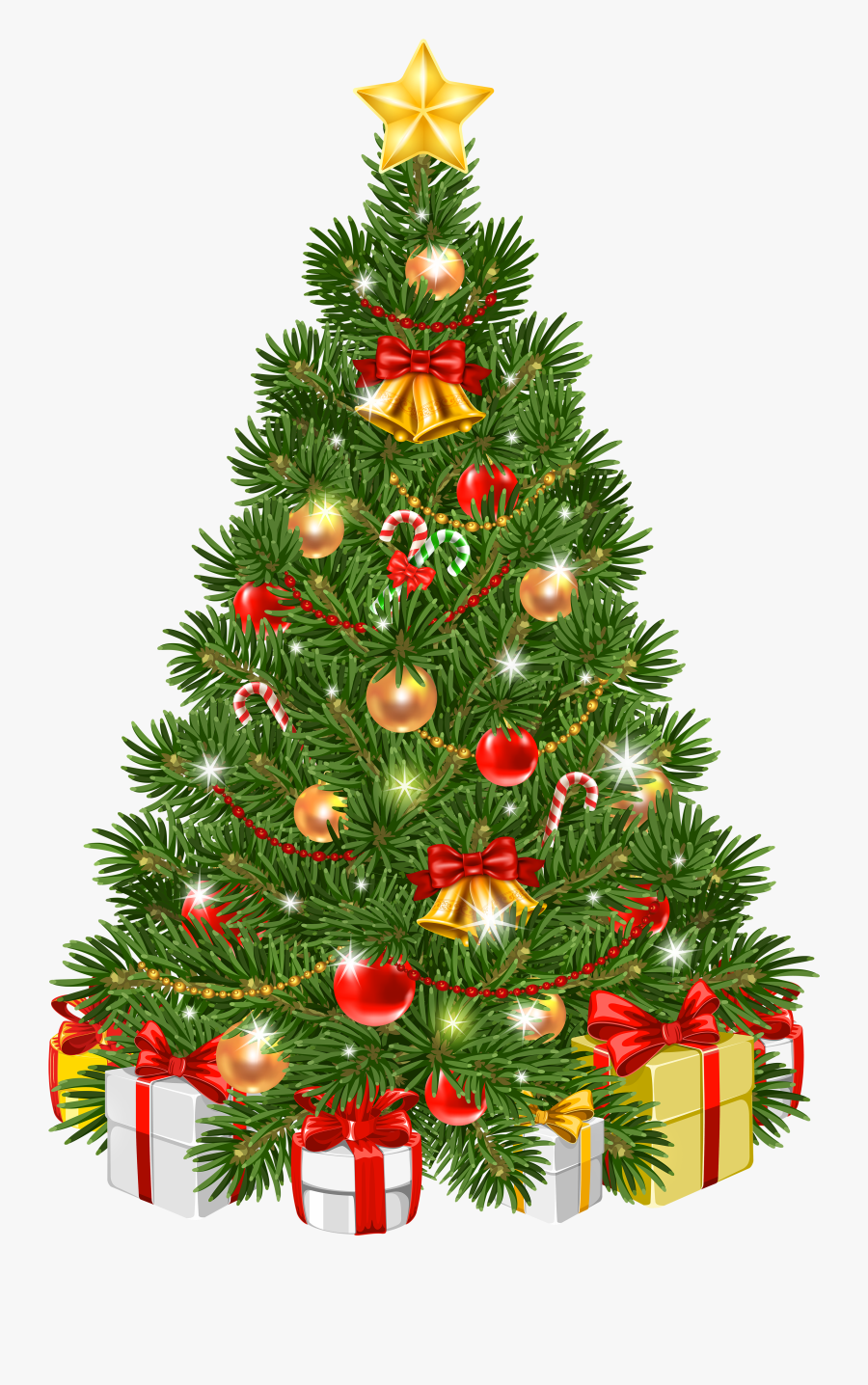 Tree Ornament Transparent Decorated Christmas Day Clipart.