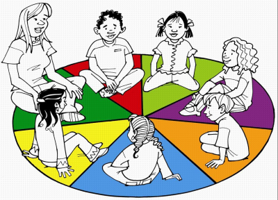 Circle Time Clipart PNG.