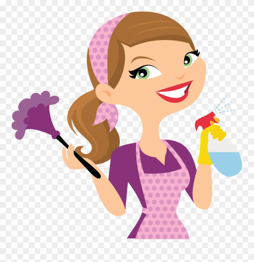 Cleaning Lady Cartoon Clipart (#3351617).