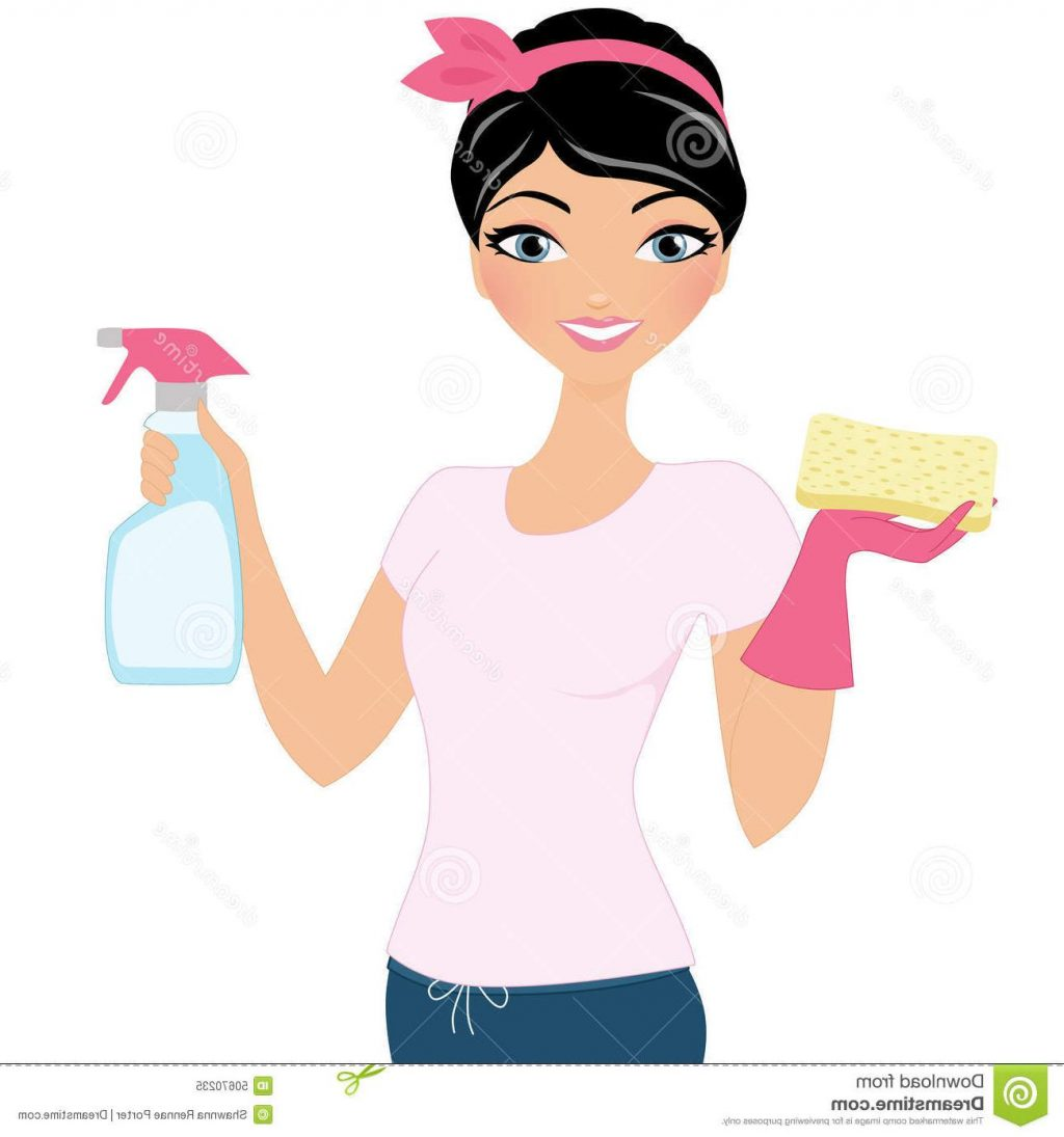 242 Cleaning Lady free clipart.