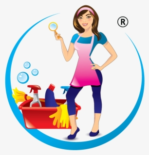 Free Cleaning Lady Clip Art with No Background.