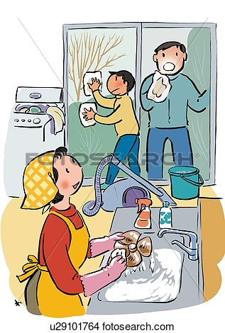 clipart of cleaning the house #9