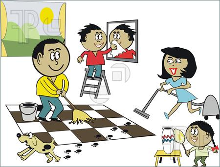 clipart of cleaning the house #7