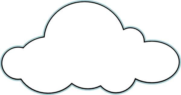 9328 Cloud free clipart.