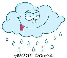Cloud And Rain Drops Clip Art.