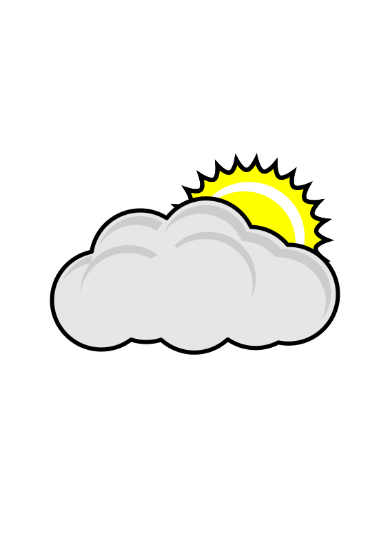 Free Clipart: Cloudy.