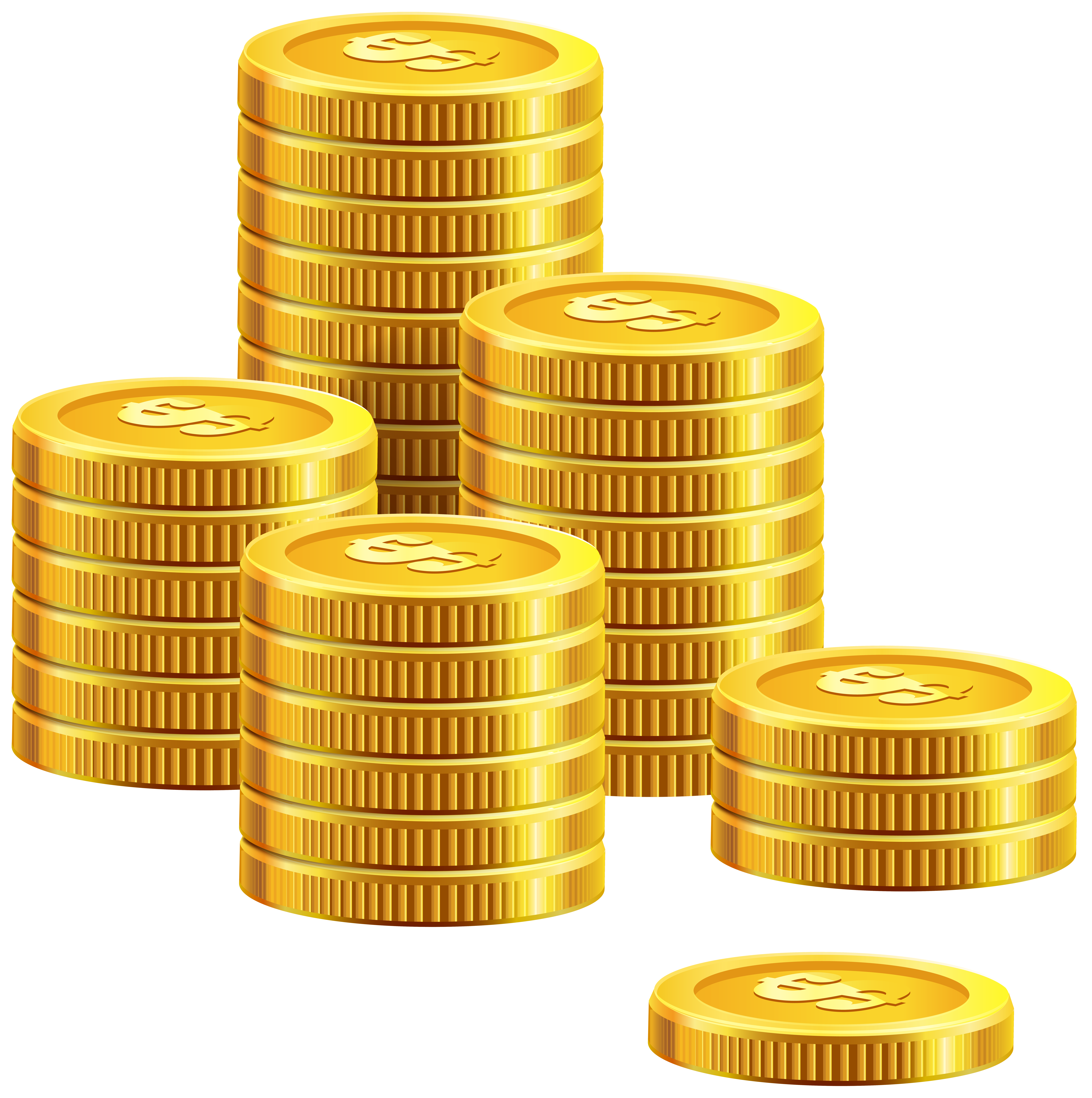 Pile of Coins PNG Clip Art.