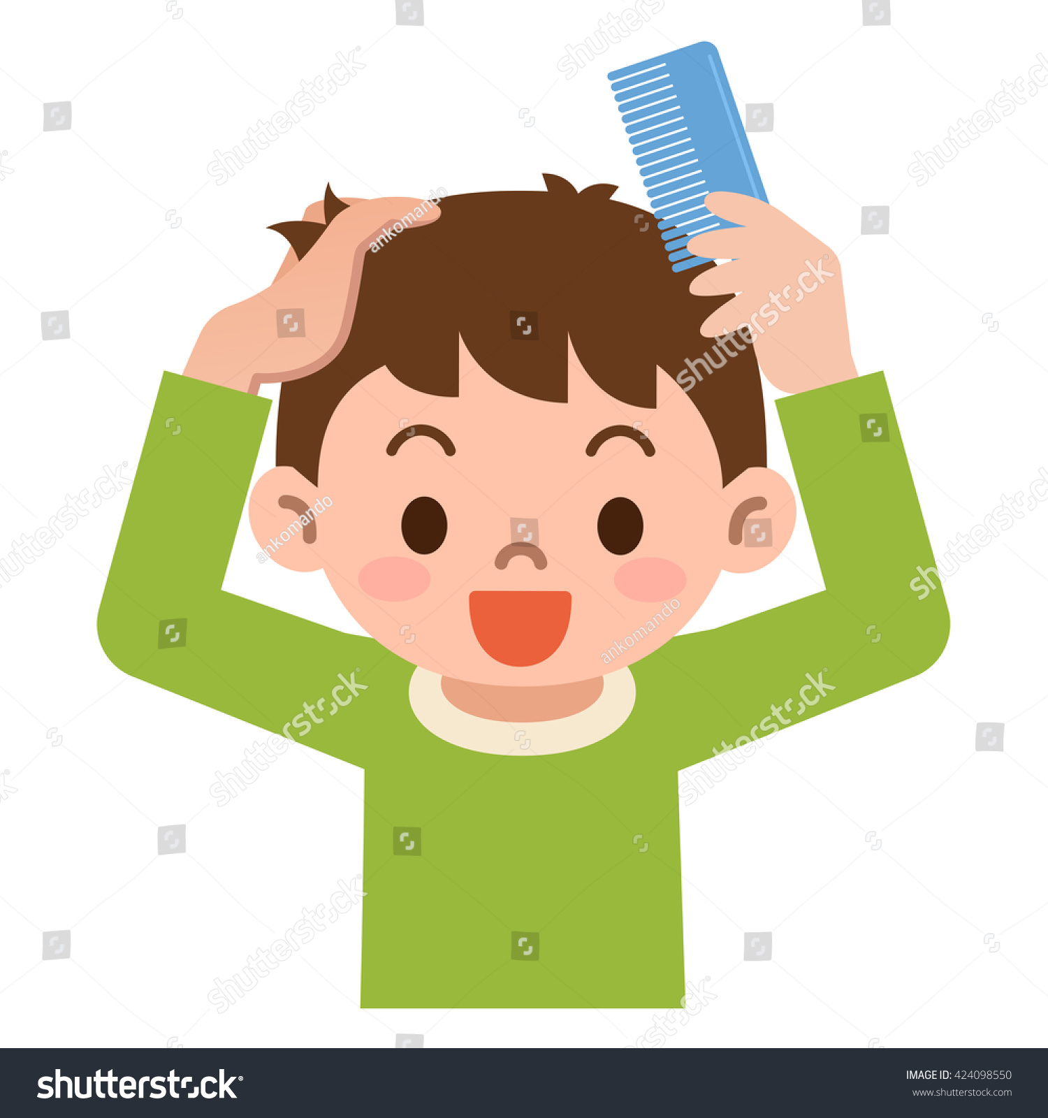 Combing hair clipart 8 » Clipart Station.