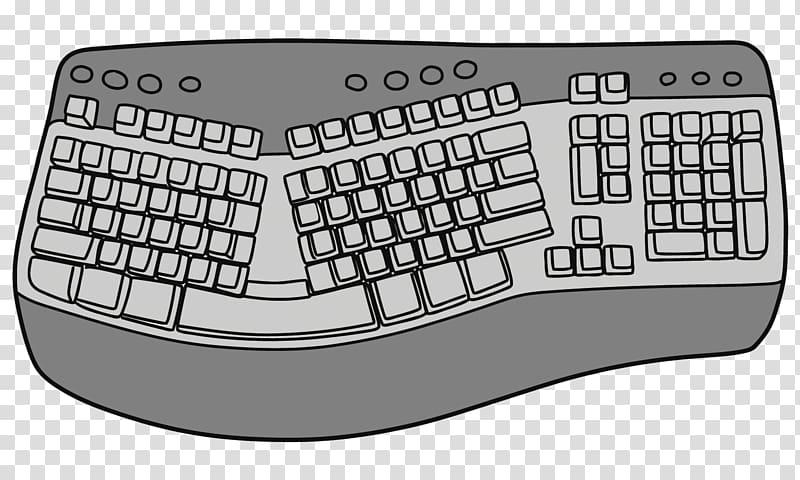 Computer keyboard Space bar, cartoon keyboard transparent.