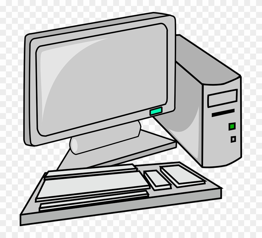Free To Use Public Domain Desktop Computer Clip Art.