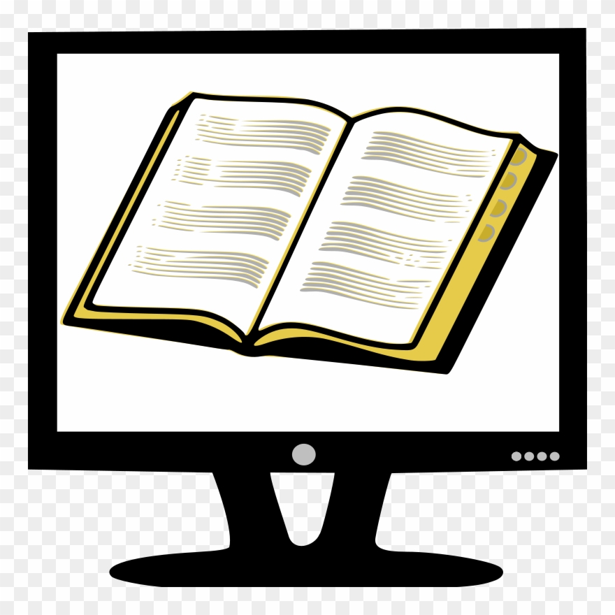 Read On Computer Screen Clipart (#151855).