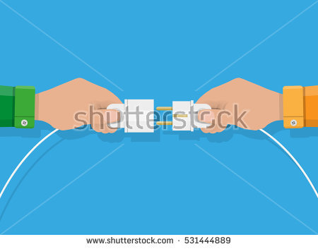 Plug. Contact Stock Images, Royalty.