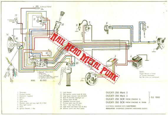 Ducati 250 Mac 3 Wiring Diagram, Ducati 250 Mark 3 Wiring Diagram.