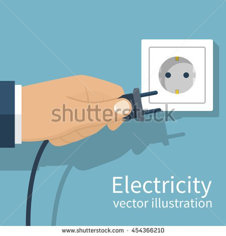 Clipart Of Connecting Plug To Wall No Watermark.