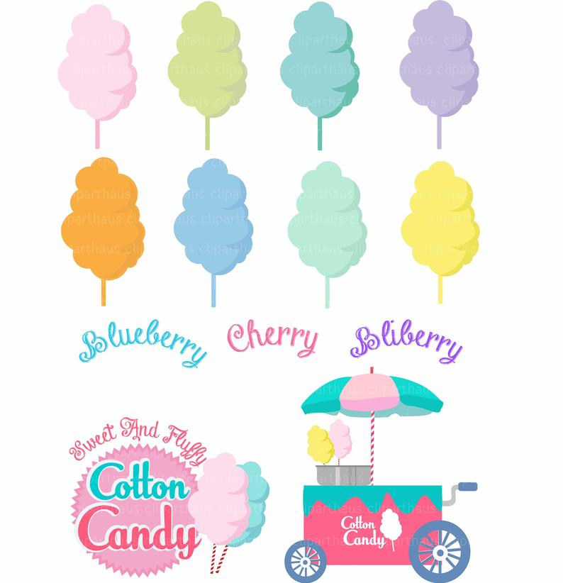 Cotton Candy Clipart, Clipart Cotton candy, Cotton candy, Cotton Candy svg,  Candy Floss Clipart, Vector Cotton Candy, Commercial Use, SVG.