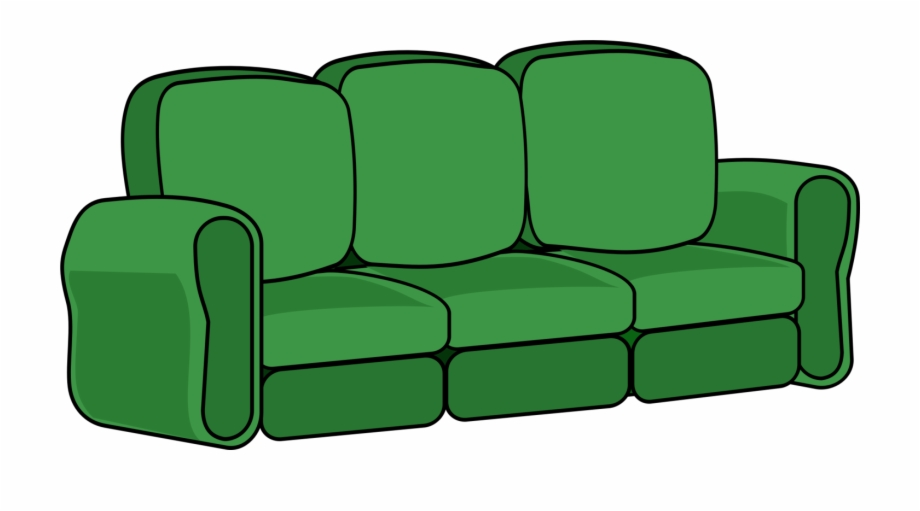 Sofa Clipart Green Couch.