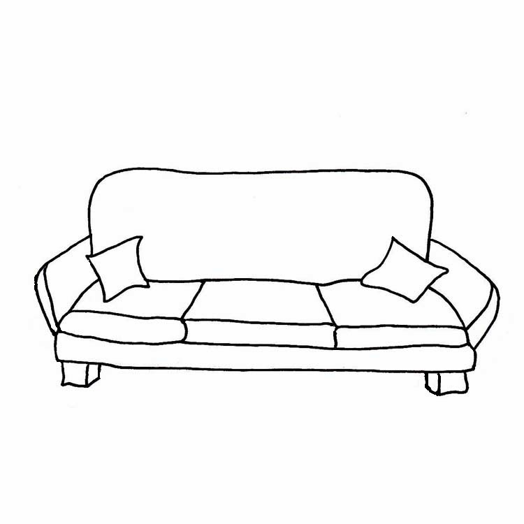 Sofa couch clipart black and white home design jobs.