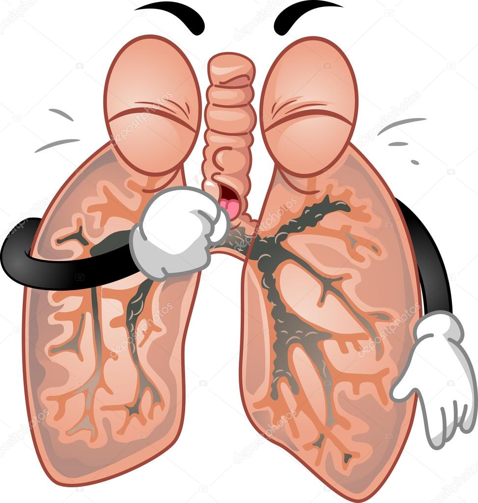 Clipart: coughing.