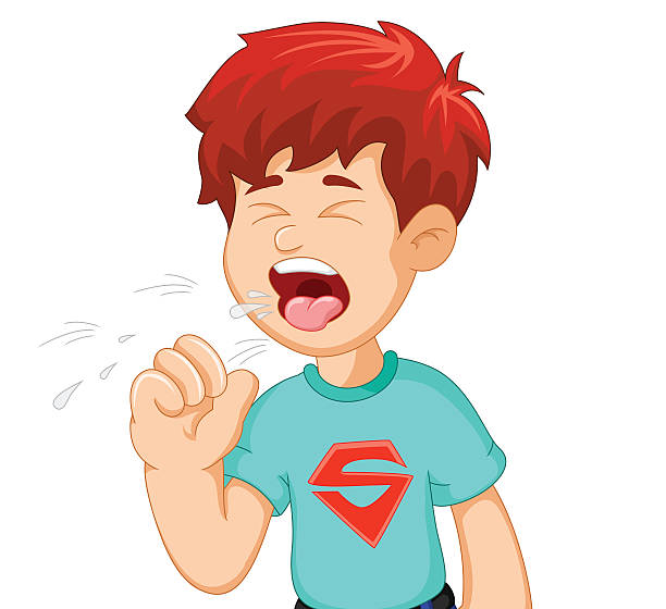 Best Child Coughing Illustrations, Royalty.