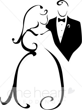 Clipart of Wedded Couple.