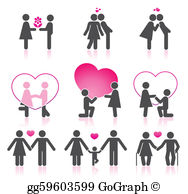 Couple In Love Clip Art.
