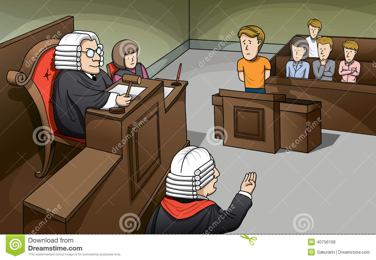 People In Court Clipart.