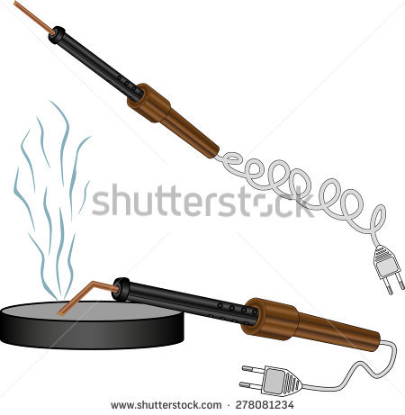 Electric soldering iron solder reel clip art free vector download.