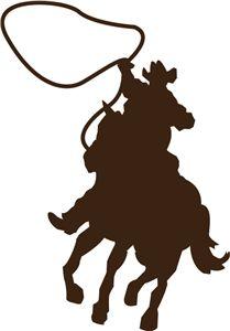 cowboy vector silhouette.