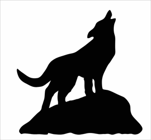 Clipart Coyote Howling.