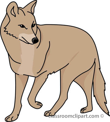 Clipart Of Coyote.