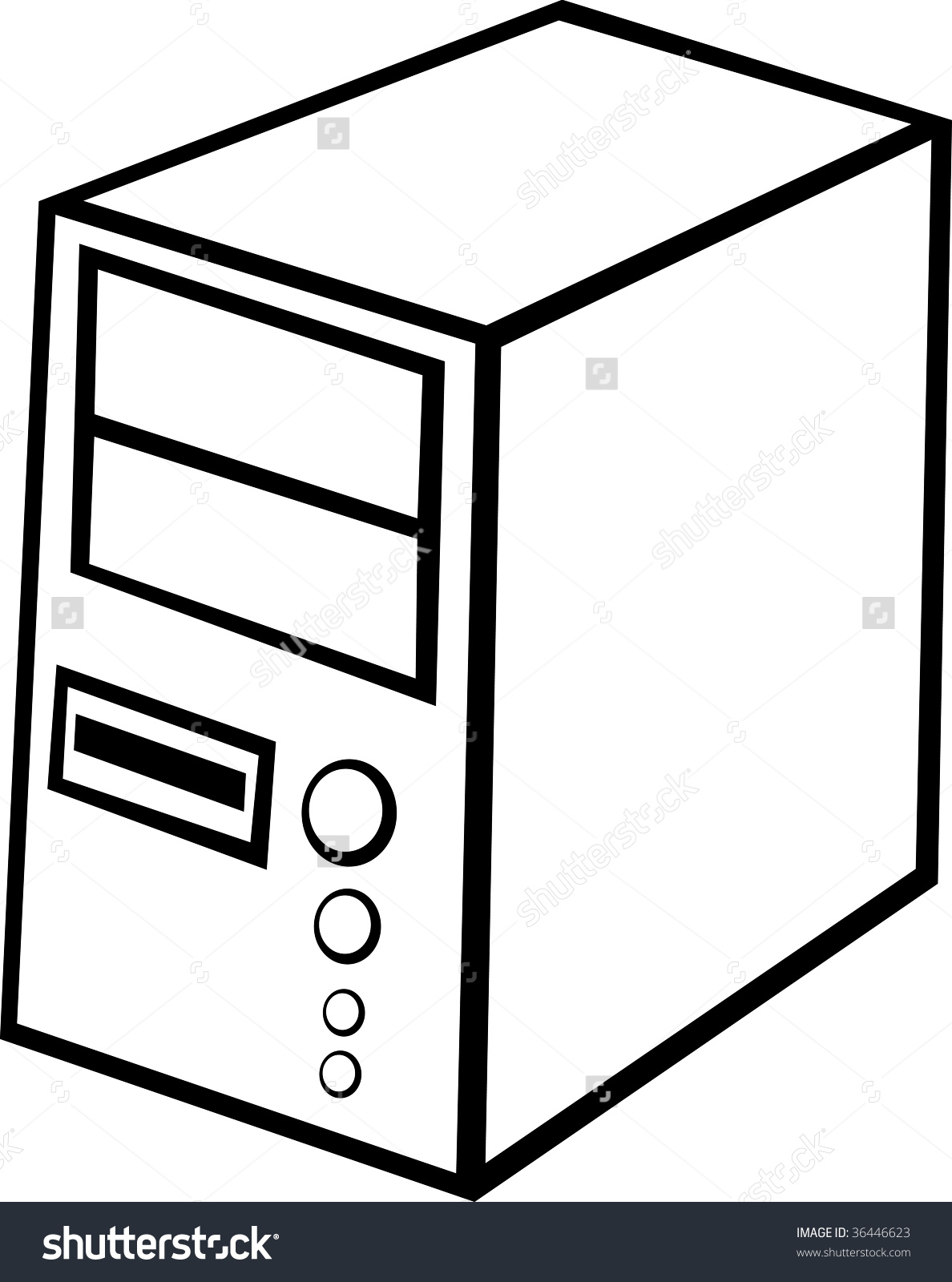 Cpu clipart black and white 4 » Clipart Station.