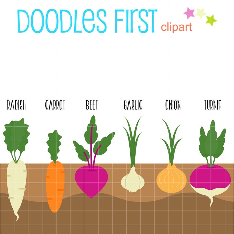 Root Crops Clip Art for Scrapbooking Card Making Cupcake Toppers Paper  Crafts.