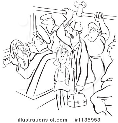Crowded Bus Clipart.