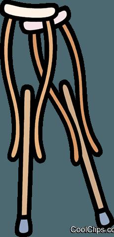medical, crutches Royalty Free Vector Clip Art illustration.