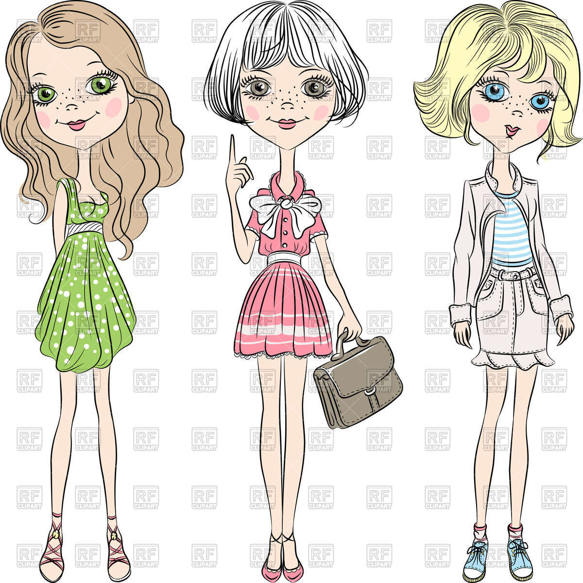 Cute Fashion Clipart.