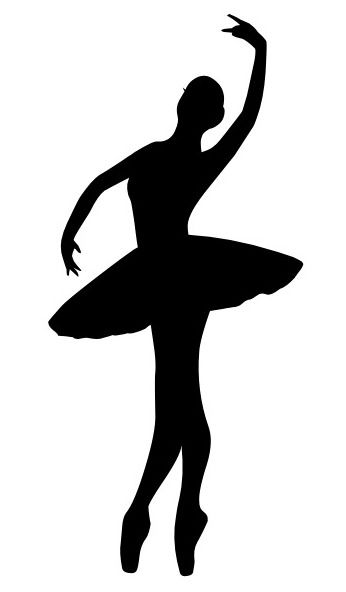 Leaping Dancer Silhouette Clipart.