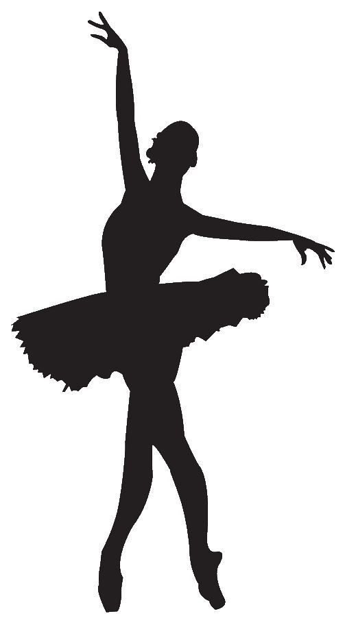Ballet Dancer Clipart Silhouette.