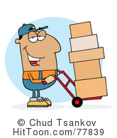 Delivery Man Clipart #1.