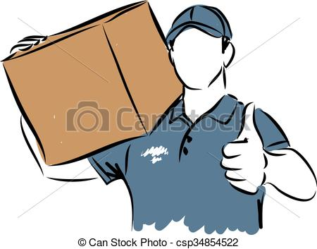 clipart of delivery man #14